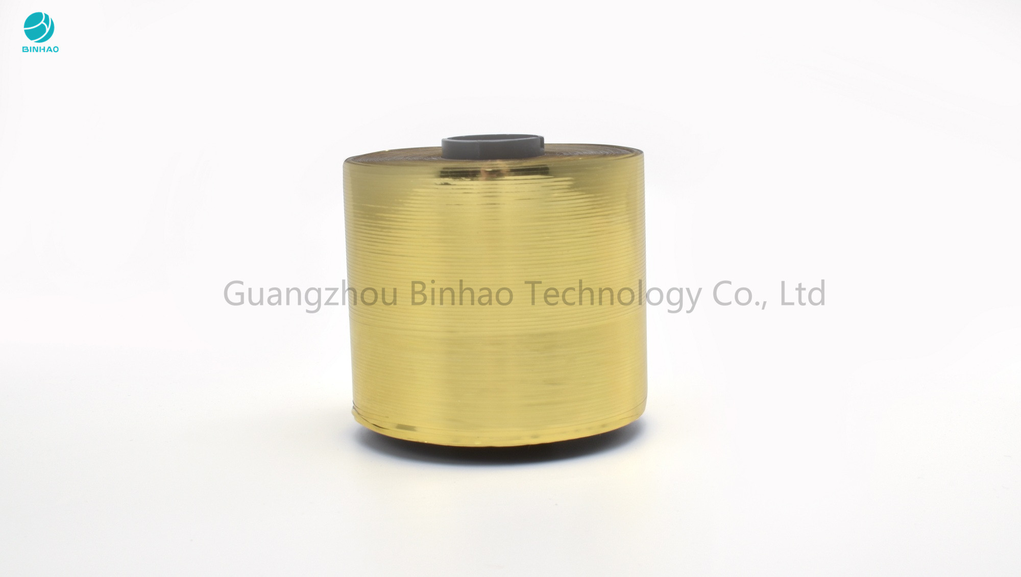 Gold Metallized Cigarette Packing Easy Tear Strip Self Adhesive Tape In 152mm ID Bobbin