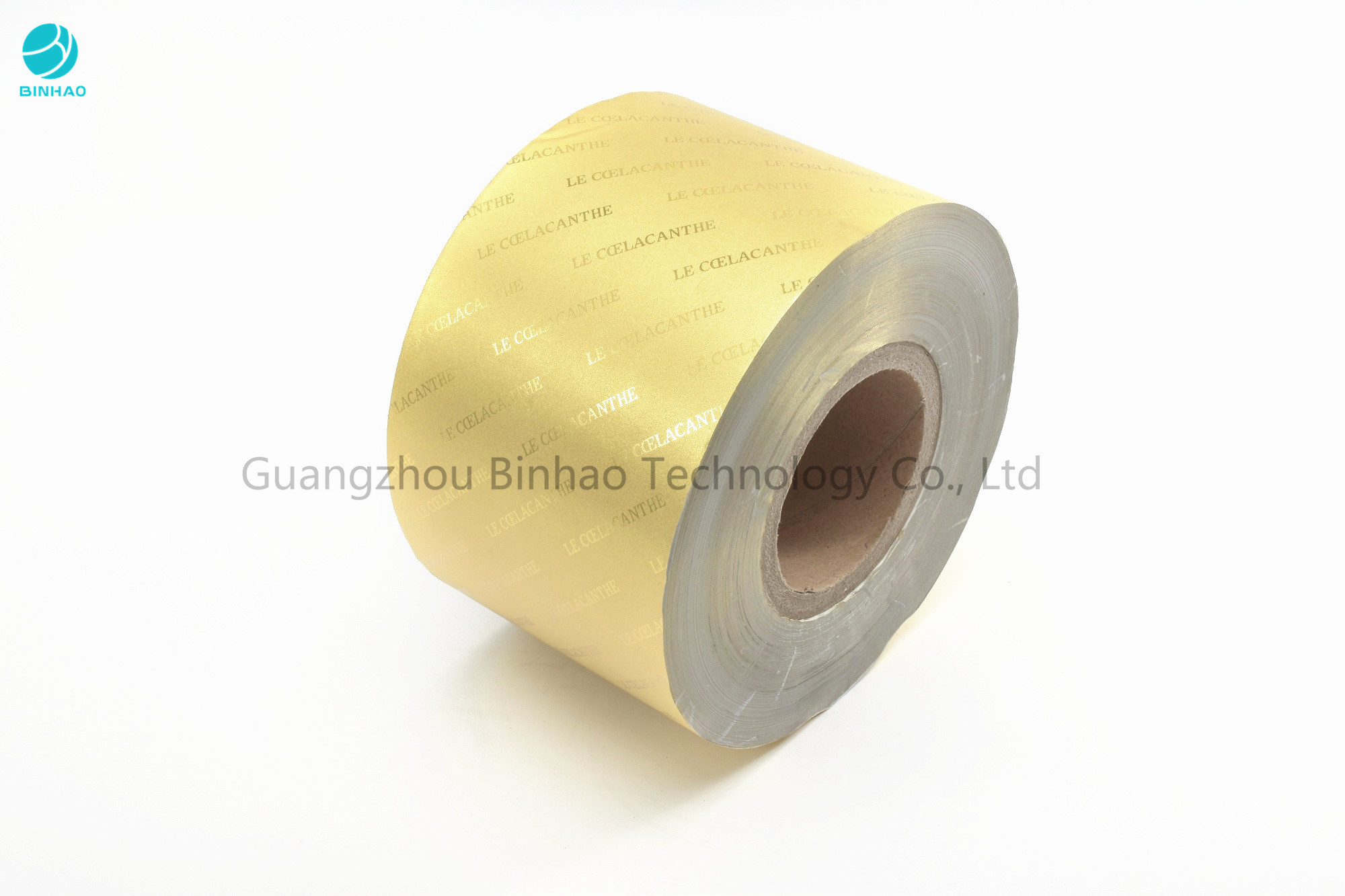 Embossing Transfer Gold Silver Aluminium Foil Paper In 85 / 76 mm  In Cigarette Food Packaging